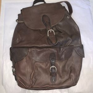 London Fog leather backpack